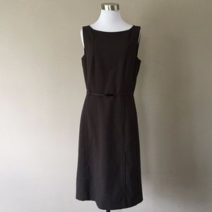 Size 6 Ann Taylor Brown Sleeveless Day Work Dress